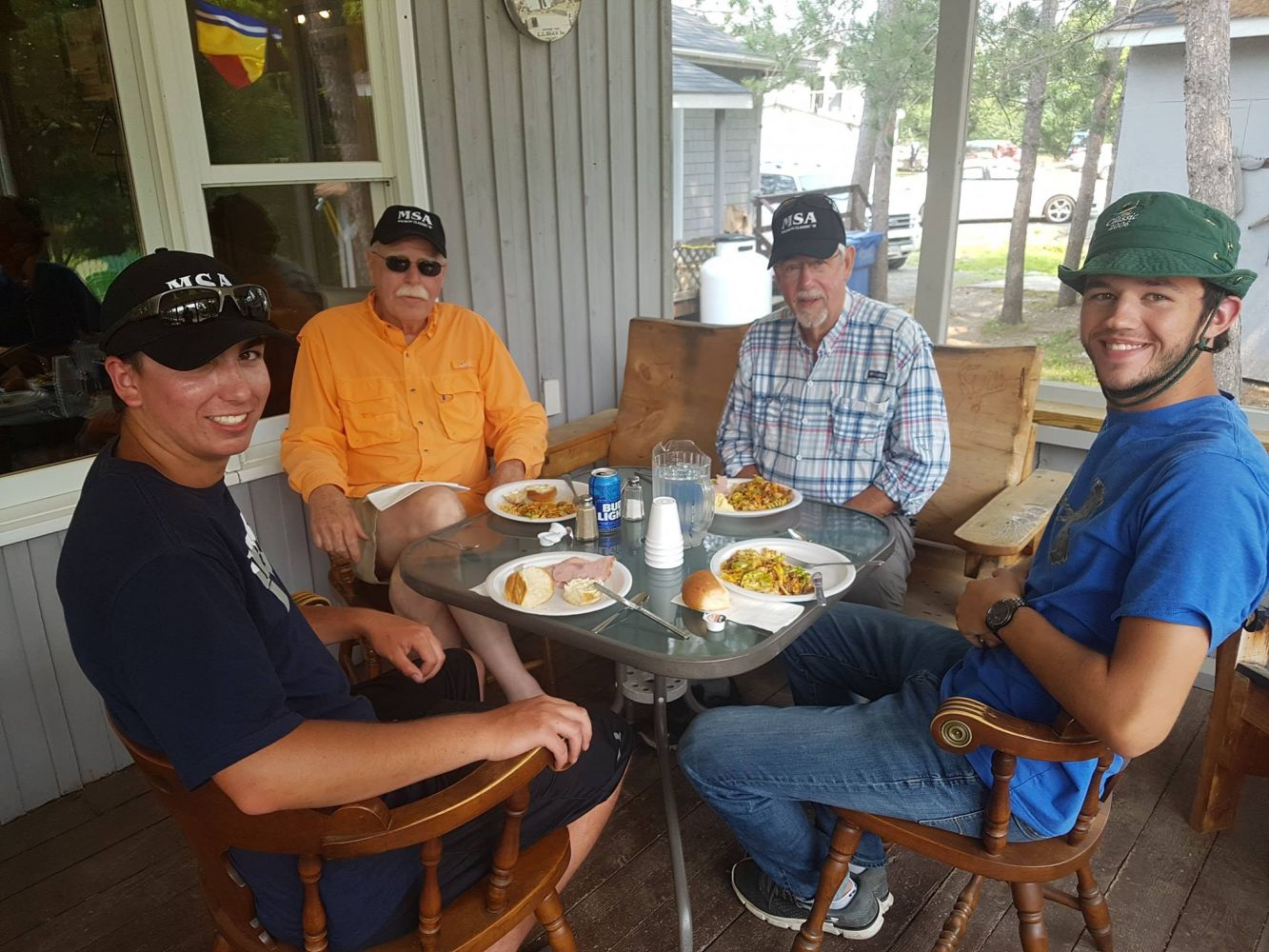 Lunch at Upper Oxbow Adventures