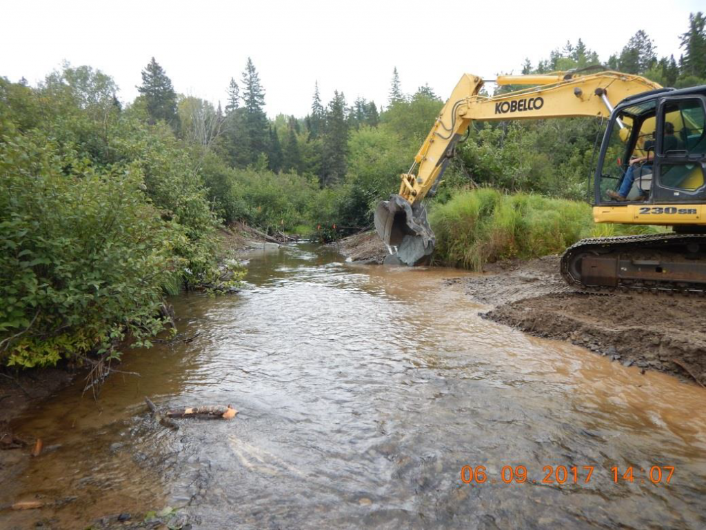 Salmon Brook - Construction